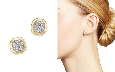 KC Designs Diamond Pavé Octagon Studs in 14K Yellow Gold, .20 ct. t.w. - Bloomingdale's_2
