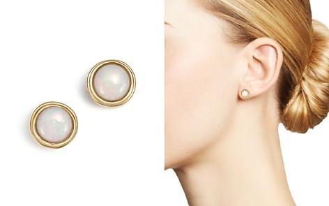Opal Bezel Set Stud Earrings in 14K Yellow Gold - 100% Exclusive - Bloomingdale's_2