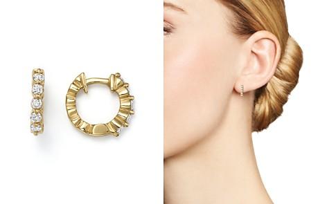 KC Designs 14K Yellow Gold Diamond Mini Huggie Hoop Earrings - Bloomingdale's_2