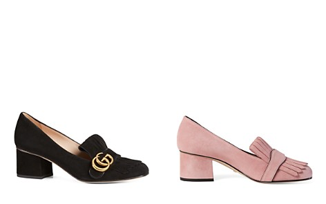 Gucci Women's Suede Mid-Heel Pumps - Bloomingdale's_2