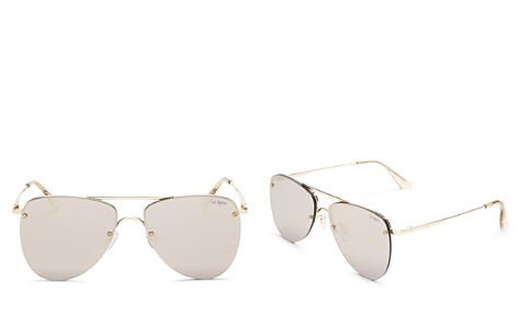 Le Specs The Prince Frameless Mirrored Aviator Sunglasses, 57mm - Bloomingdale's_2