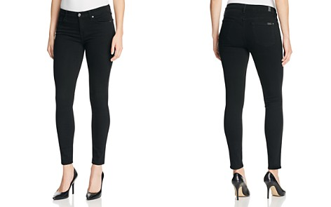 7 For All Mankind b(air) Skinny Ankle Jeans in Black - Bloomingdale's_2