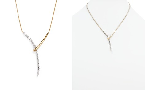 Diamond Y Necklace in 14K Yellow and White Gold, .50 ct. t.w. - 100% Exclusive - Bloomingdale's_2