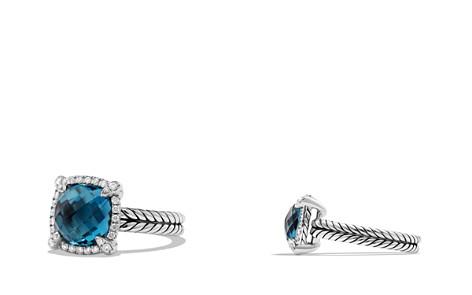 David Yurman Châtelaine Pavé Bezel Ring with Hampton Blue Topaz and Diamonds - Bloomingdale's_2