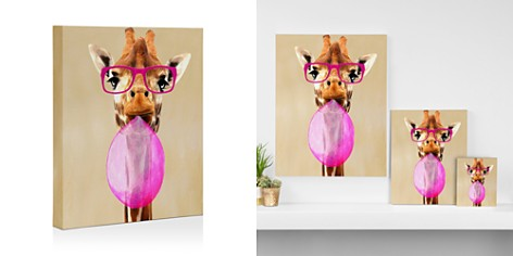 "DENY Clever Girafe with Bubblegum Canvas, 8"" x 10"" - Bloomingdale's_2"