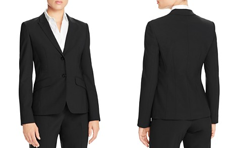 BOSS Julea Stretch-Wool Blazer - Bloomingdale's_2