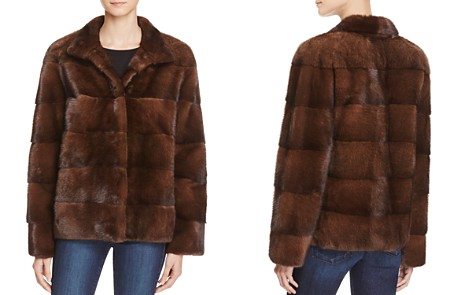 Maximilian Furs Sheep Leather Trim Mink Fur Coat - Bloomingdale's_2