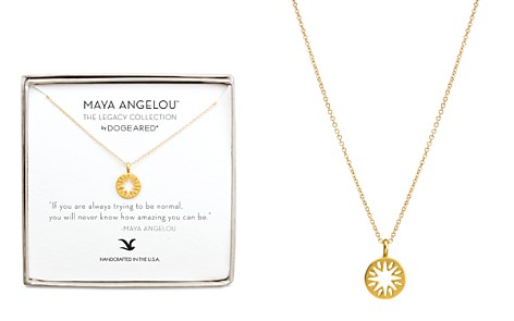 "Dogeared Maya Angelou Legacy Collection ""If You Are Aways Trying to Be Normal..."" Necklace, 16"" - Bloomingdale's_2"