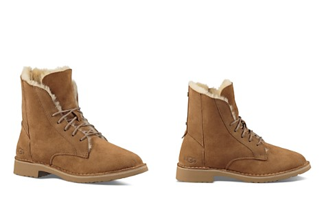 UGG® Quincy Leather and Sheepskin Lace Up Booties - Bloomingdale's_2