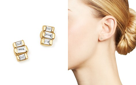 Zoë Chicco 14K Yellow Gold Baguette Diamond Stud Earrings - Bloomingdale's_2