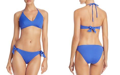 Echo Solid Scoop Bikini Top & Solid Tie Bikini Bottom - Bloomingdale's_2