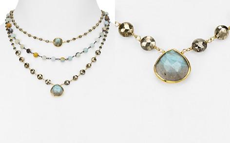 "Ela Rae Opal & Hematite Layered Pendant Necklace, 14"" - Bloomingdale's_2"