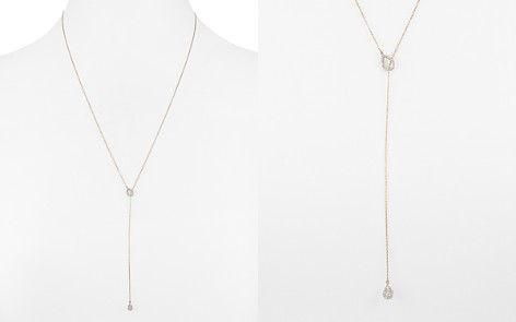 "Adina Reyter 14K Yellow Gold Teardrop Lariat Necklace with Diamonds, 20"" - Bloomingdale's_2"