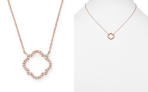 Diamond Geometric Pendant Necklace in 14K Rose Gold, .20 ct. t.w. - 100% Exclusive - Bloomingdale's_2