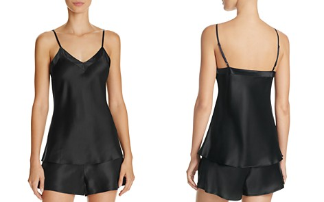 GINIA Silk V-Neck Cami & Basic Silk Boxers - Bloomingdale's_2