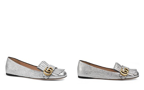 Gucci Marmont Metallic Flats - Bloomingdale's_2