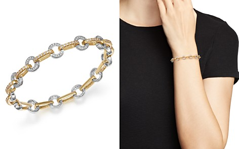 Diamond Circle Link Bracelet in 14K Yellow and White Gold, 1.35 ct. t.w. - Bloomingdale's_2