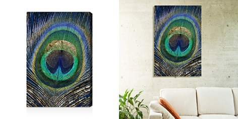 """Oliver Gal Feather Touch Blue Wall Art, 16"""" x 24"""" - Bloomingdale's_2"""