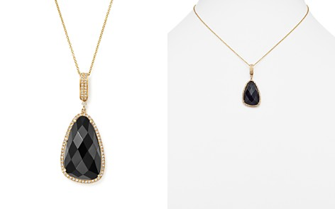 "Onyx and Diamond Pendant Necklace in 14K Yellow Gold, 16"" - 100% Exclusive - Bloomingdale's_2"