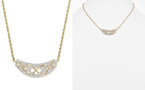 Diamond Micro Pavé Necklace in 14K Yellow Gold, .50 ct. t.w. - Bloomingdale's_2