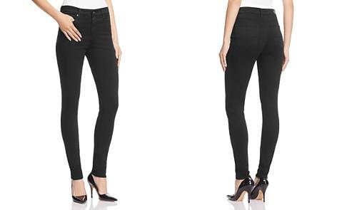 AG Farrah High-Rise Sateen Skinny Jeans in Black - Bloomingdale's_2