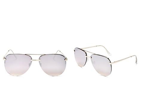 Quay Women's The Playa Mirrored Aviator Sunglasses, 62mm - Bloomingdale's_2