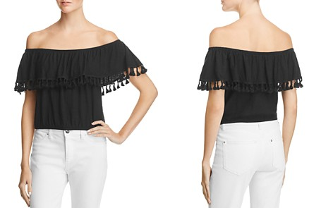 Michelle by Comune Pom Off-the-Shoulder Top - 100% Exclusive - Bloomingdale's_2