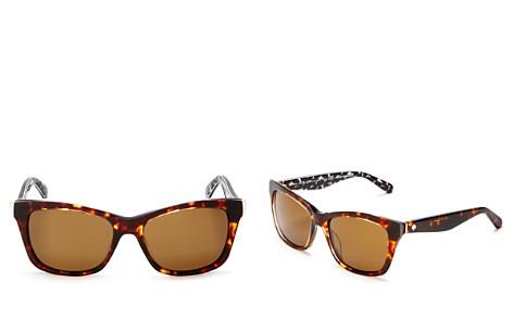 kate spade new york Jenae Polarized Square Sunglasses, 53mm - Bloomingdale's_2