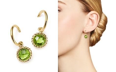 Peridot Small Hoop Earrings In 14k Yellow Gold 100 Exclusive Bloomingdale S 2