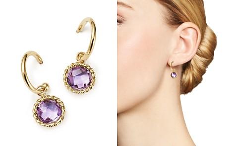 Amethyst Drop Hoop Earrings in 14K Yellow Gold - 100% Exclusive - Bloomingdale's_2