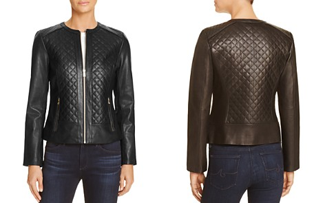 Cole Haan Quilted Leather Jacket - Bloomingdale's_2