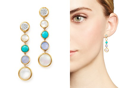 Marco Bicego 18K Yellow Gold Jaipur Multi Stone Drop Earrings with Diamonds - 100% Exclusive - Bloomingdale's_2