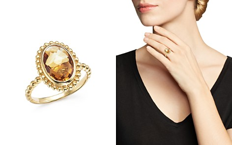 Citrine Oval Beaded Ring in 14K Yellow Gold - 100% Exclusive - Bloomingdale's_2