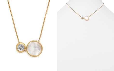 """Marco Bicego 18K White and Yellow Gold Jaipur Pendant Necklace with Mother-Of-Pearl and Diamonds, 16"""" - Bloomingdale's_2"""