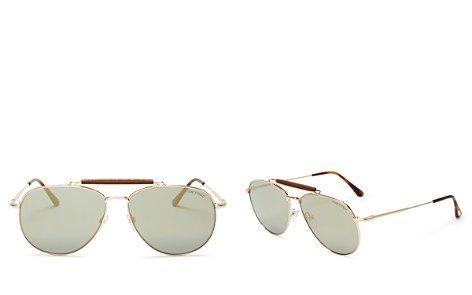 Tom Ford Sean Top Bar Aviator Metal Sunglasses, 60mm - Bloomingdale's_2