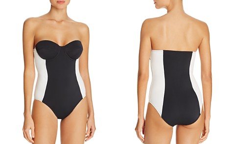 Echo Color-Block Underwire Bandeau One-Piece Swimsuit - Bloomingdale's_2