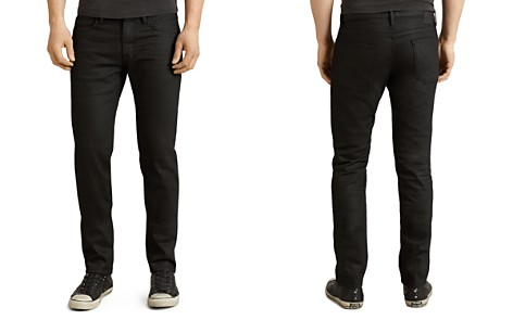 John Varvatos Star USA Bowery Slim Straight Fit Jeans in Jet Black - Bloomingdale's_2