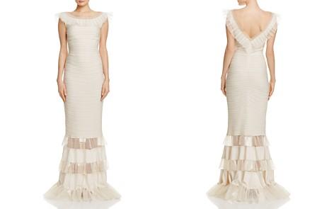 Tadashi Shoji Illusion Ruffle Pintucked Gown - Bloomingdale's_2