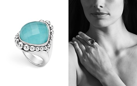 LAGOS Sterling Silver Maya Escape Turquoise Doublet Dome Ring - Bloomingdale's_2