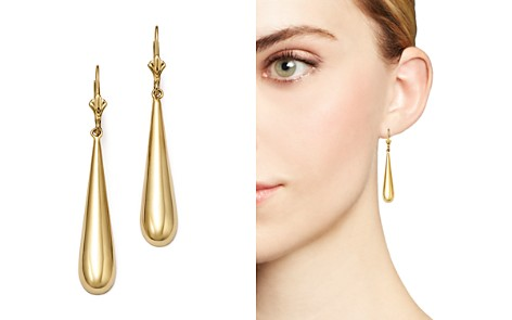 14K Yellow Gold Long Teardrop Earrings - 100% Exclusive - Bloomingdale's_2