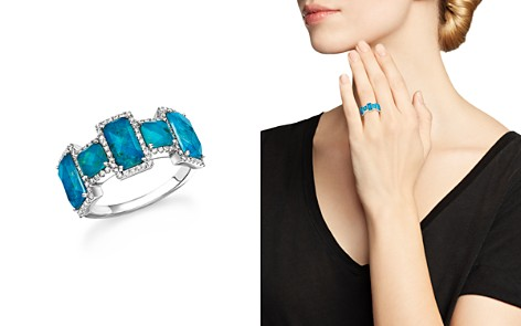 Meira T 14K White Gold Chrysocolla Doublet and Diamond Ring - Bloomingdale's_2