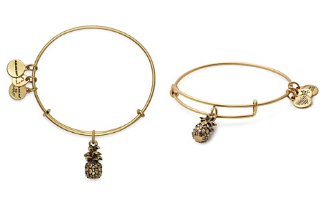 Alex and Ani Pineapple Expandable Wire Bangle - Bloomingdale's_2
