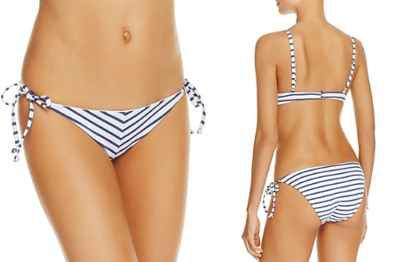 Splendid Chambray Side Tie Bikini Bottom - Bloomingdale's_2