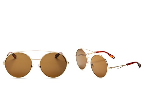 Givenchy Double Brow Bar Oversized Round Sunglasses, 60mm - Bloomingdale's_2