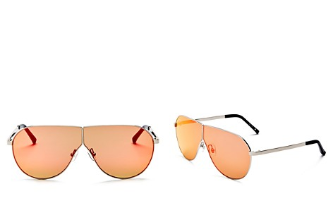 3.1 Phillip Lim Women's Mirrored Shield Aviator Sunglasses, 70mm - Bloomingdale's_2