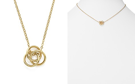 """14K Yellow Gold Love Knot Necklace, 18"""" - 100% Exclusive - Bloomingdale's_2"""