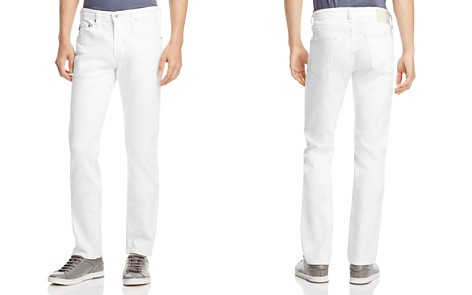 AG Matchbox Slim Fit Jeans in White - Bloomingdale's_2