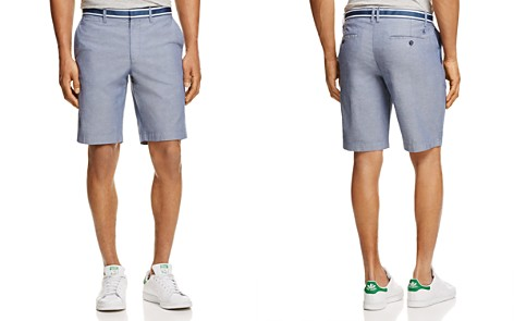 Original Penguin Grosgrain Trim Oxford Shorts - Bloomingdale's_2