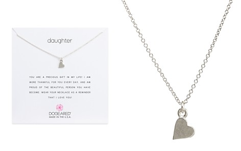 "Dogeared Daughter Heart Pendant Necklace, 16"" - Bloomingdale's_2"