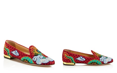 Charlotte Olympia Dragon Smoking Slipper Flats - Bloomingdale's_2